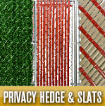 Privacy Hedge, Slats, & Safety Top Caps